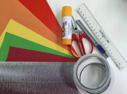 彩纸做灯笼的方法图片